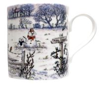 Mugs & Coasters-Footprints in the Snow