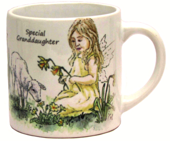 Child's Mug-Spring Fairy- Yellow