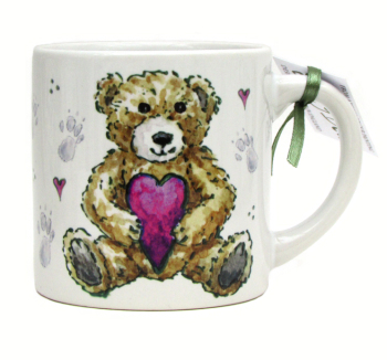 Childs Mug-Teddy Pink Heart