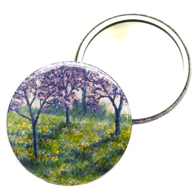 Pocket Mirror - Foxgloves