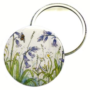 Pocket Mirror - Bluebells