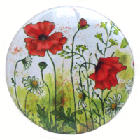 Pocket Mirror - Poppies