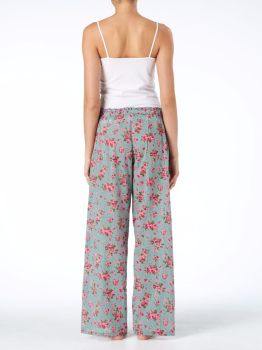 Pyjama Bottoms - Dusky Blue Rambling Rose