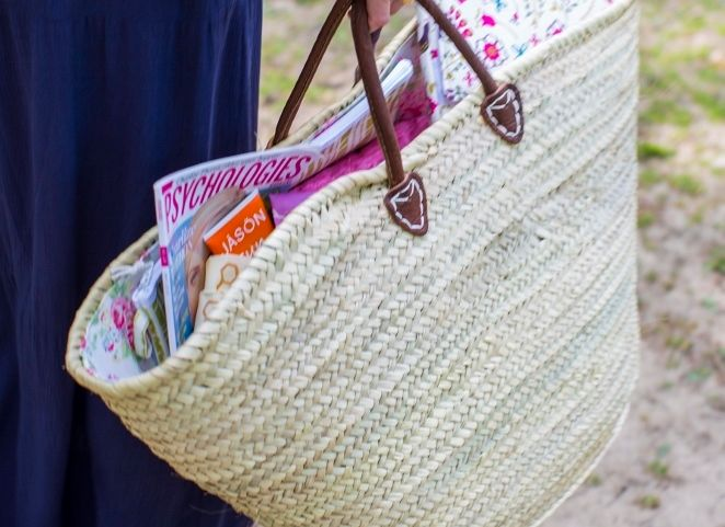 Morrocan Wicker Basket| Cotton Lining