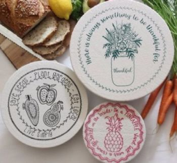 Organic Cotton Bowl Covers Assorted - Set of 3