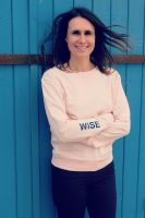 Organic Cotton Slogan Sweatshirt - Wise Pink