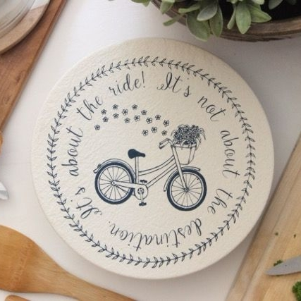 Cotton Bowl Cover Medium Navy Bike - Eco Friendly Gifts