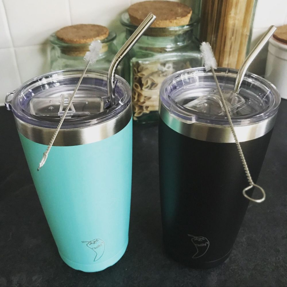 STAINLESS STEEL MILKSHAKE/SMOOTHIE TUMBLERS