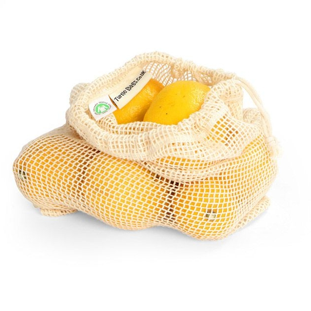 Organic Cotton String Bag Small - Cotton Mesh Produce Bag UK