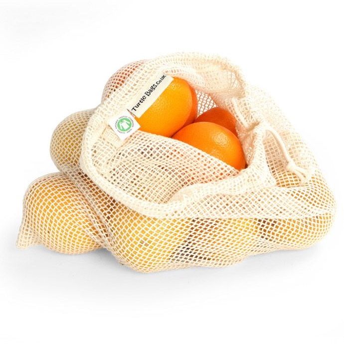 Organic Cotton String Bag - Cotton Mesh Produce Bag UK