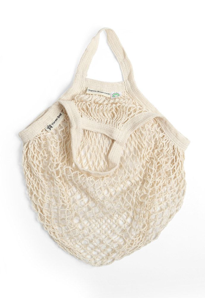 Turtle String Bag Cream Short Handled - Turtle Bags UK
