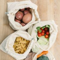 Organic Cotton Produce Bags Set of Five