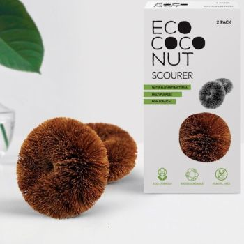 Coconut Scouring Ring - Pack of Two Large