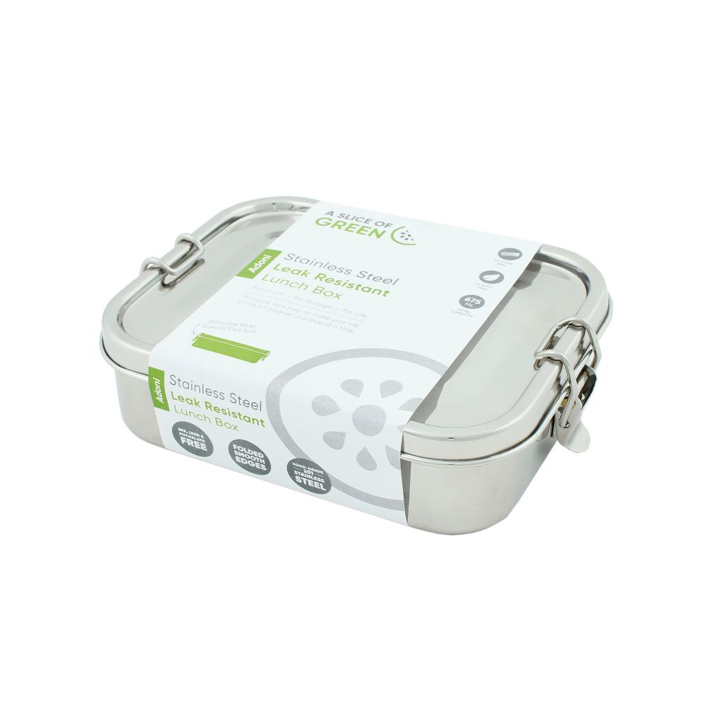 Stainless Steel Lunch Box Leak Resistant 675ml - Adoni