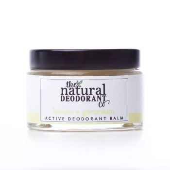 Natural Deodorant Active Lemon & Geranium - 20g or 55g