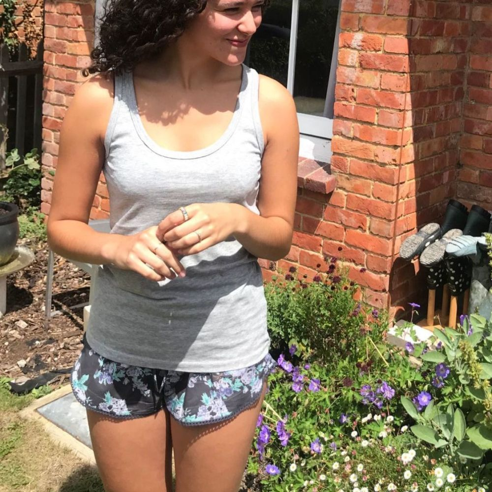 Cotton Pyjama Shorts | Fairtrade | Grey Rose