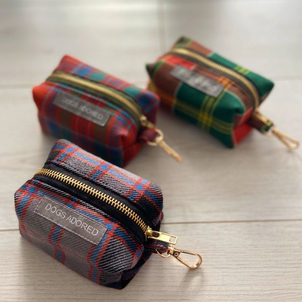 Tweed Dog Poo Bag Holder