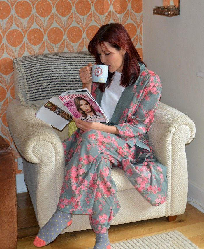 Cotton Kimono Dressing Gown Pyjamas
