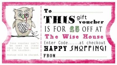 The Wise House Gift Vouchers