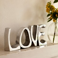 Silver Love Sign