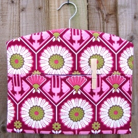 sunflower berry funky patterned fabric peg bag