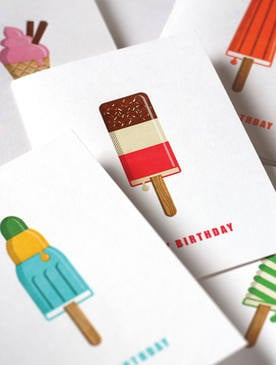 Mac & Ninny Letterpress Icecream Cards