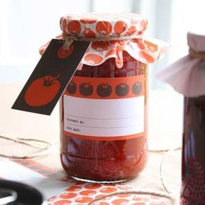 Mac & Ninny Jam Jar Covers Tomatoes