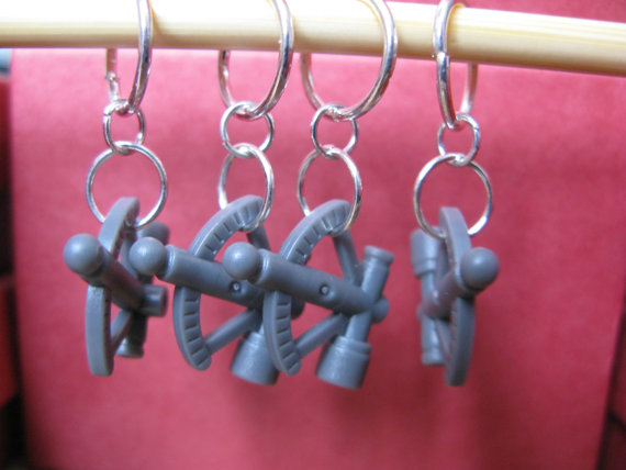 Lego Sextant Stitch Markers