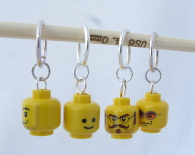 Lego Head Stitch Markers