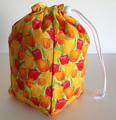 Small Project Bag - Tulips