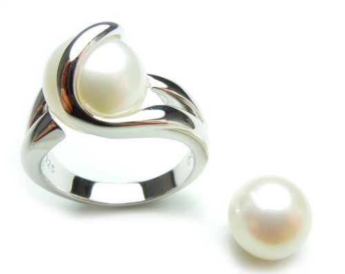 Zoetwaterparel (wit) - Perle (blanc) - Pearl (white) (10mm.)