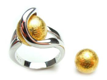 Meteoriet (goud) - Meteorite (gold) (10mm.)