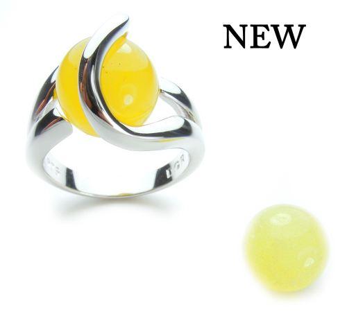 Amber geel/yellow - Ambre jaune (10mm.)
