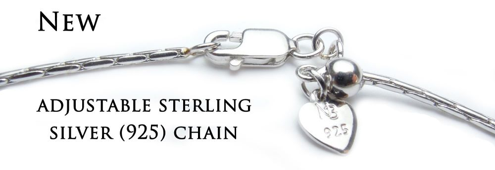 Adjustable sterling silver (925) chain