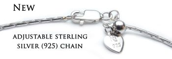 Aanpasbare ketting - chaîne ajustable - Adjustable chain (sterling silver 925)