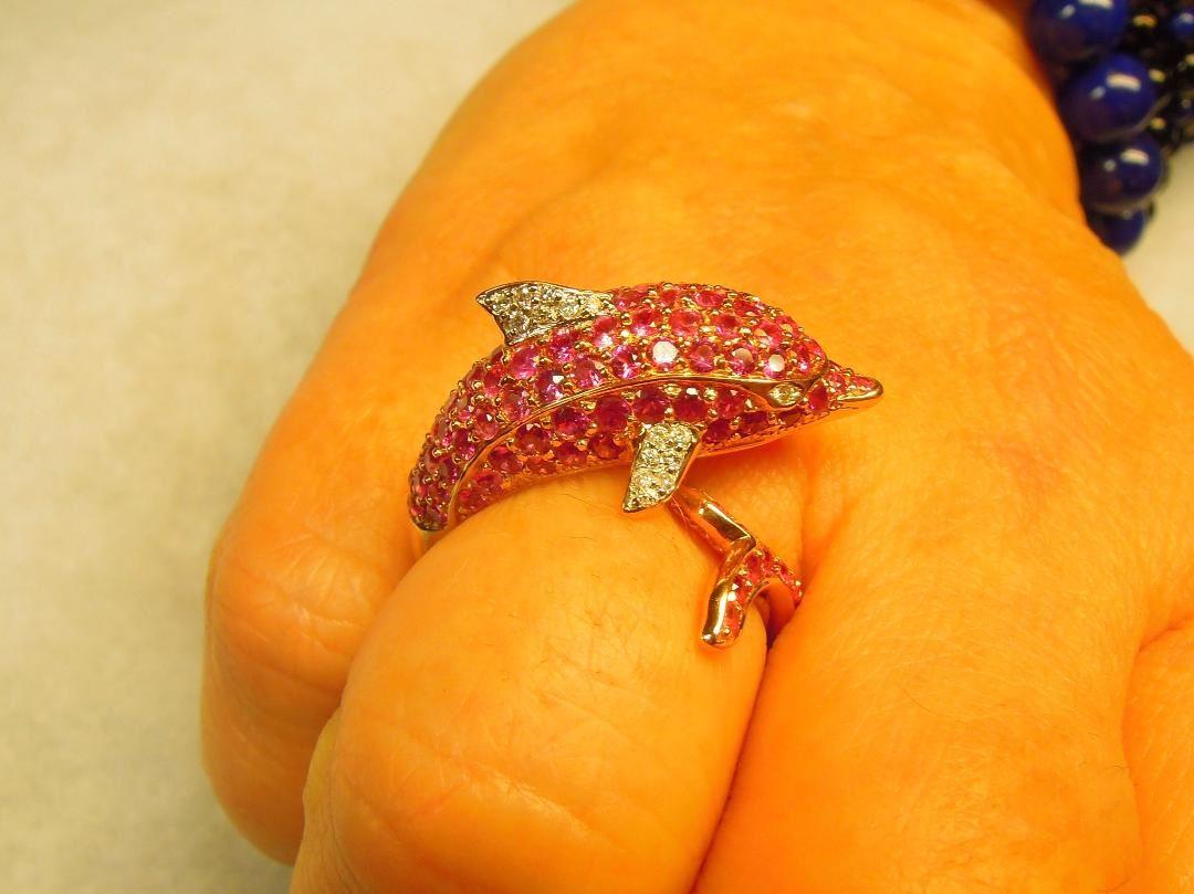 roze Saffier met diamant