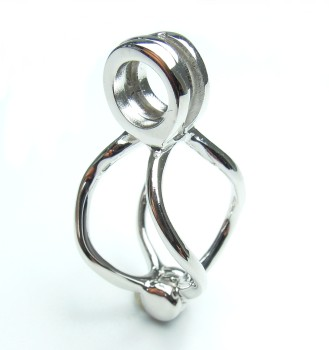 hanger - pendentif - pendant - klein/petit/small (2 x 1 cm.)