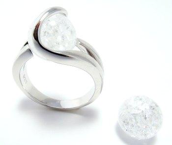 Bergkristal - Cristal de roche - Crystal quartz (10mm.)