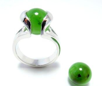 Jade Rusland - Jade Russie - Jade Russia (10mm.)
