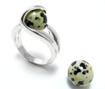 Dalmatiër Jaspis - Jaspe Dalmatien - Dalmatian Jasper (10mm.)