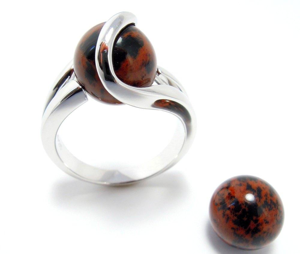 Mahonie Obsidiaan - Obsidienne - Mahogony Obsidian (10mm.)
