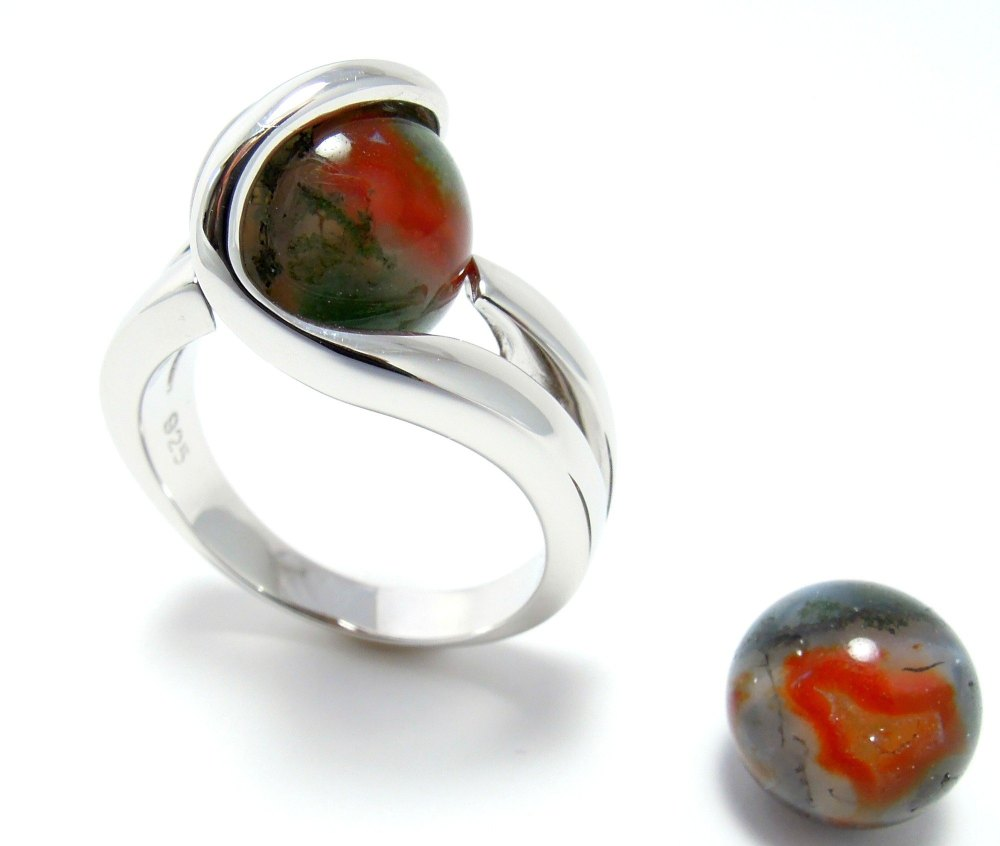 Mosagaat - Agate mousse - Moss Agate (10mm.)