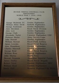 WW1 plaque