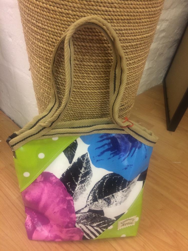 small shopper - bag llaw lliwiau llachar