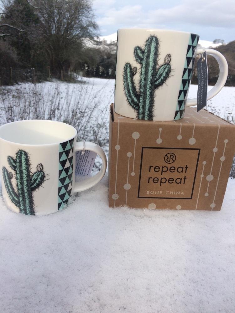 Blue Cactus mug