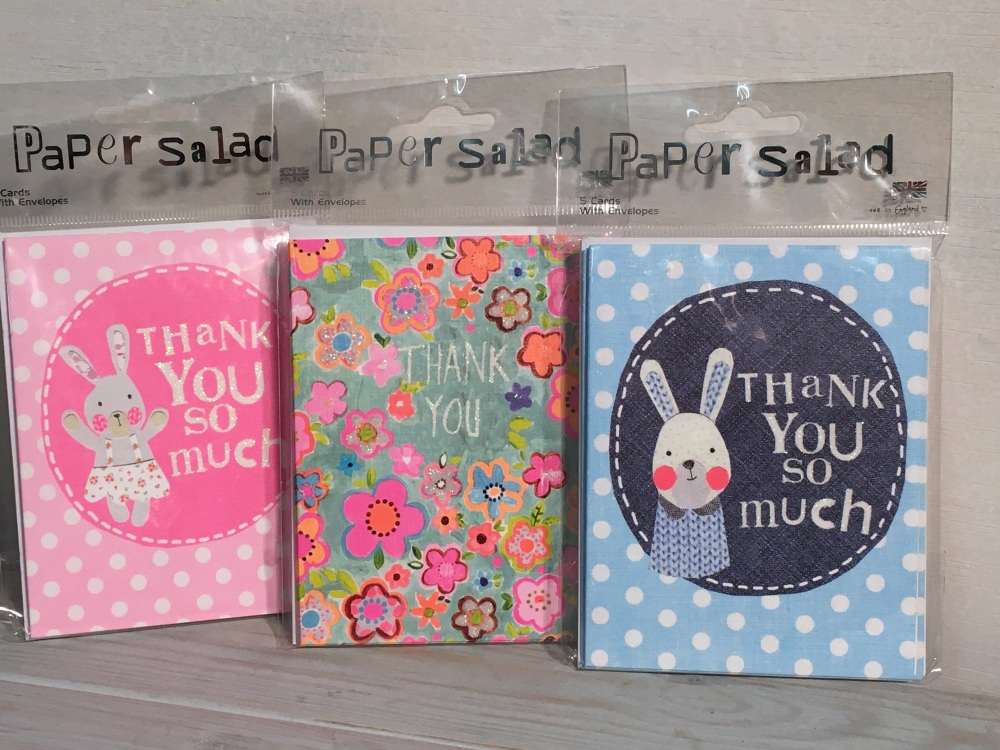 Pack mini Thank You Cards