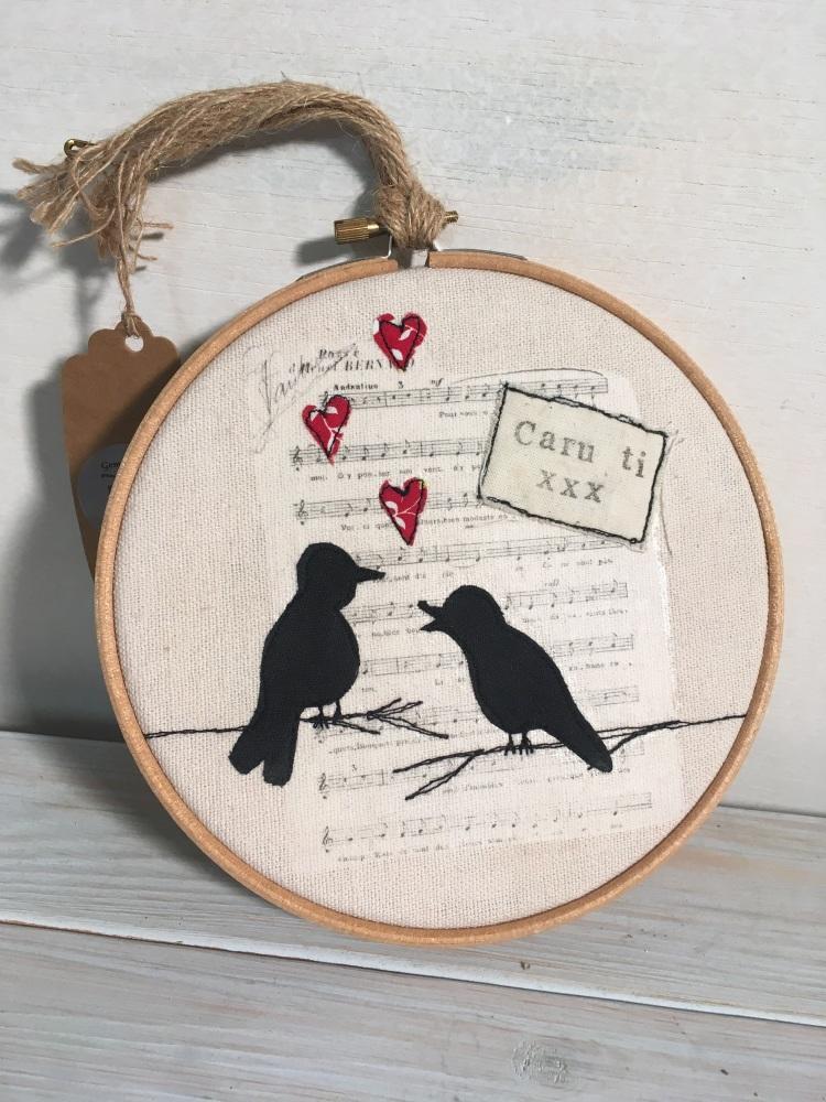 Embroidery Hoop Caru Ti (Love You)