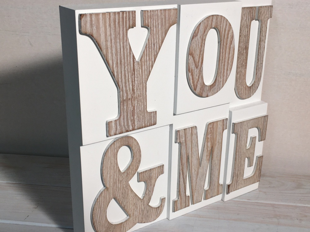 Addurn Wal YOU & ME Block Wall Hanging