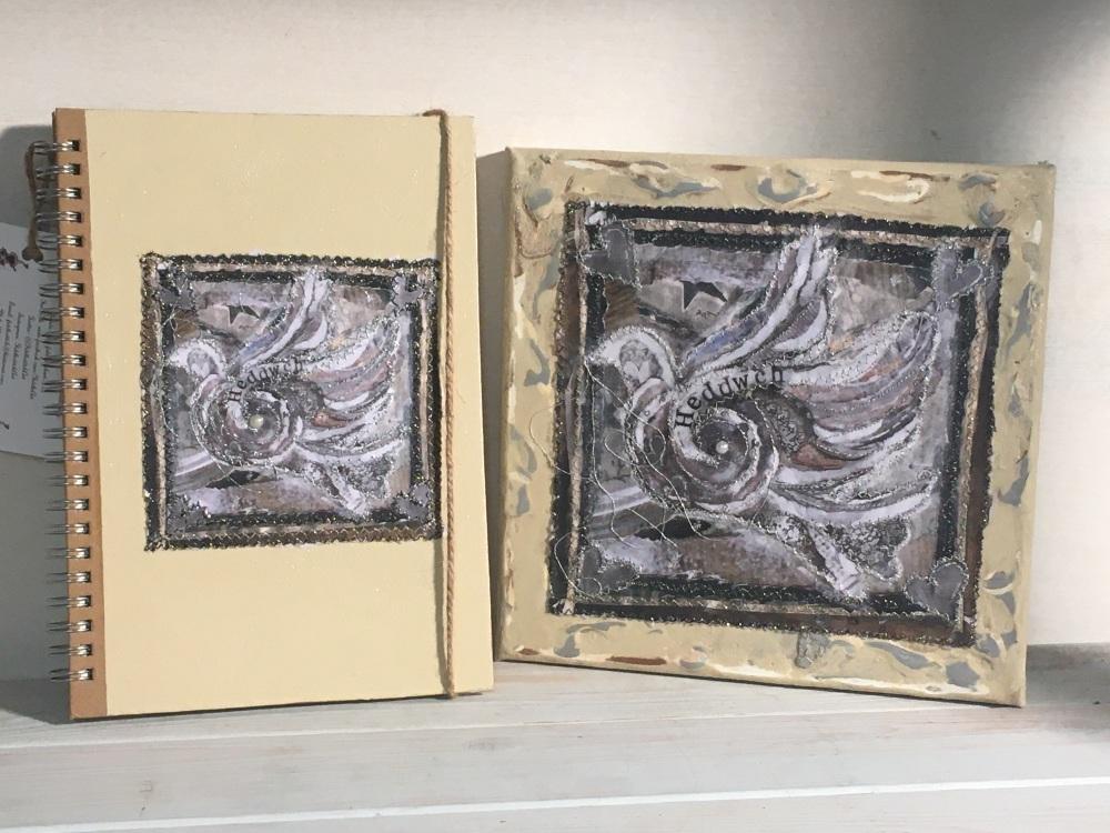 """""""Heddwch"""" Llyfr Nodiadau a Cynfas /Notebook & Canvas"""
