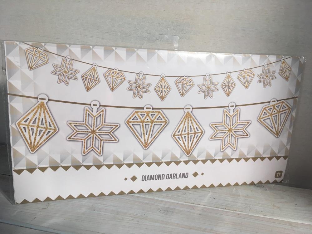 Paper Diamond Garland